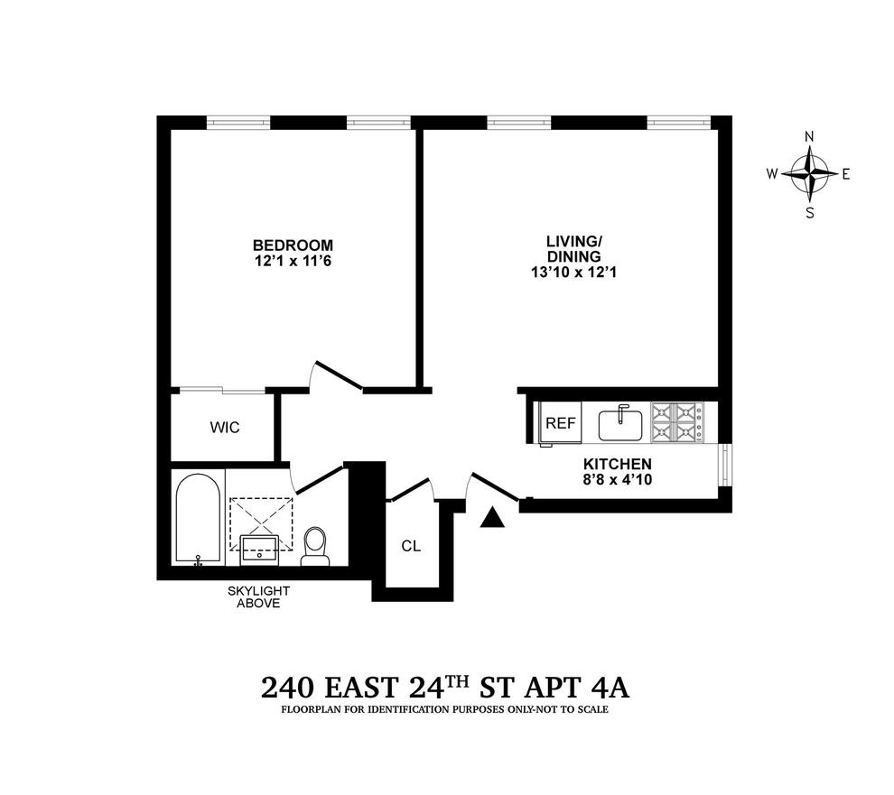 Unit 4A at 240 East 24th Street, New York, NY 10010