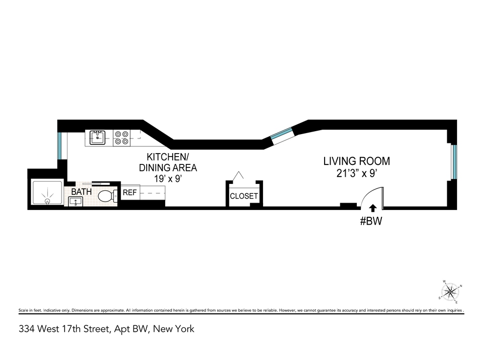 Unit BW at 334 West 17th Street, New York, NY 10011