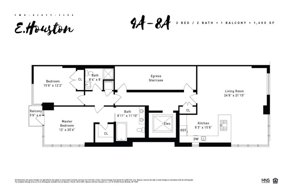 Unit 5A at 265 East Houston Street, New York, NY 10002