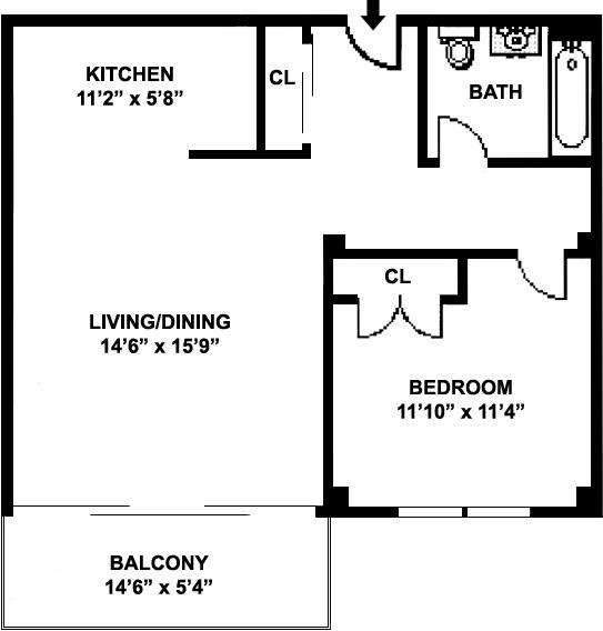 Unit 8S at 383 Carlton Avenue, Brooklyn, NY 11238