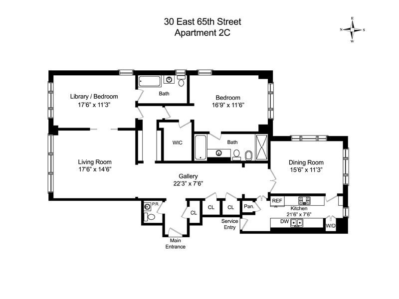 Unit 2C at 30 East 65th Street, New York, NY 10065