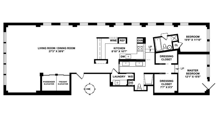 Unit 5 at 12 West 17th Street, New York, NY 10011