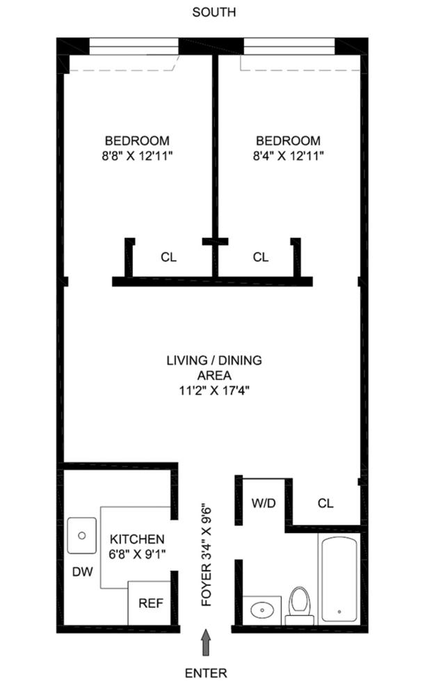 Unit 8F at 229 East 24th Street, New York, NY 10010