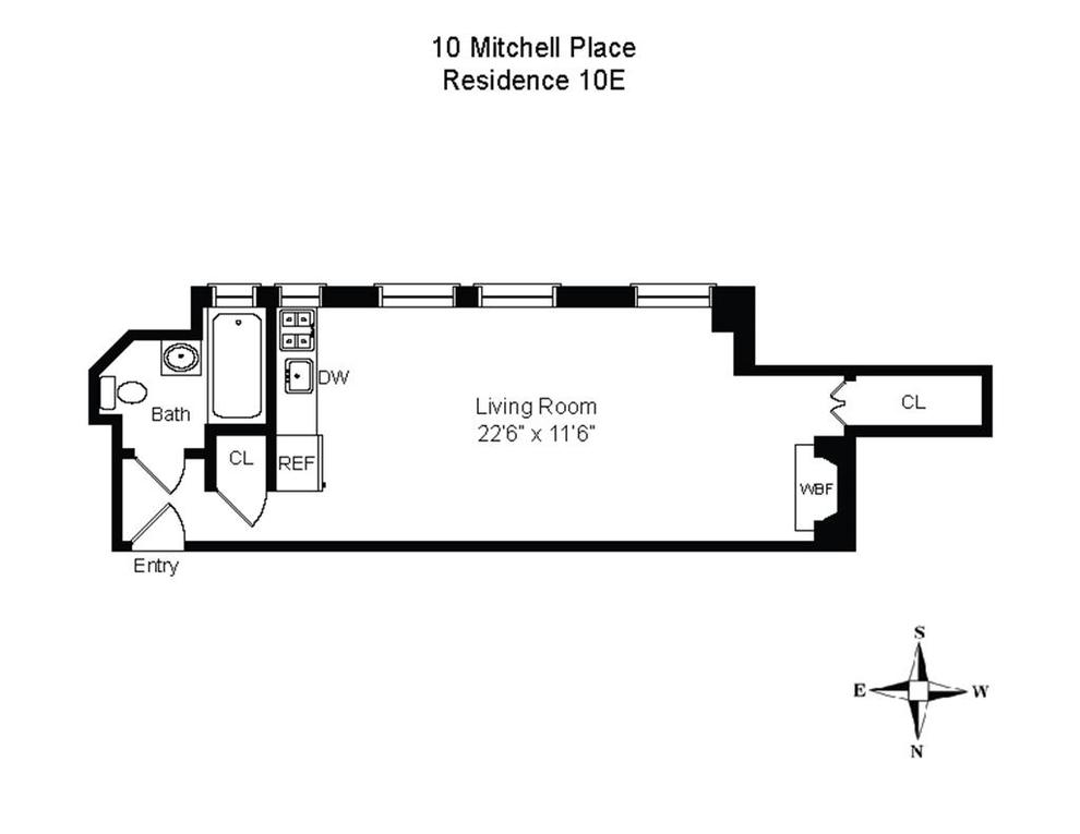 Unit 10E at 10 Mitchell Place, New York, NY 10022
