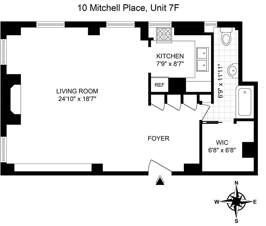 Unit 7F at 10 Mitchell Place, New York, NY 10022