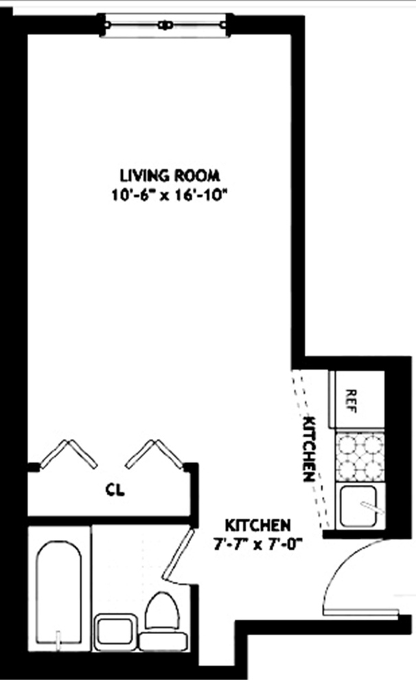 Unit 4C at 55 West 83rd Street, New York, NY 10024