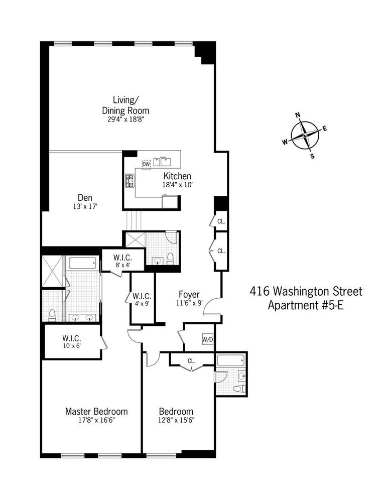 Unit 5E at 416 Washington Street, New York, NY 10013
