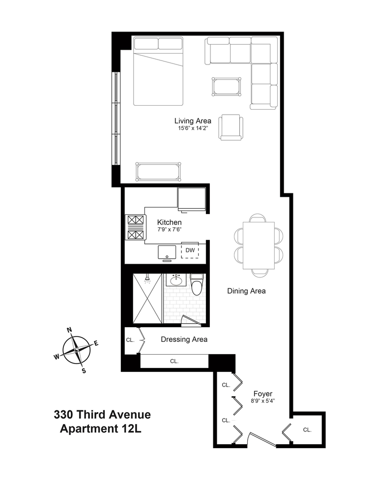 330 3rd Avenue 12l New York Ny 10010 Sales Floorplans Property