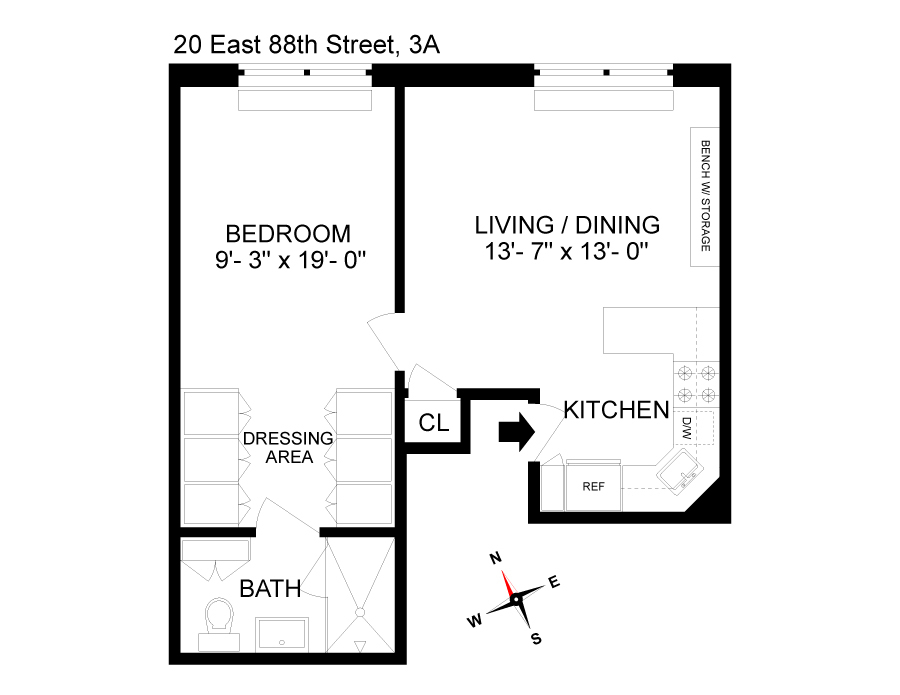 Unit 3A at 20 East 88th Street, New York, NY 10128