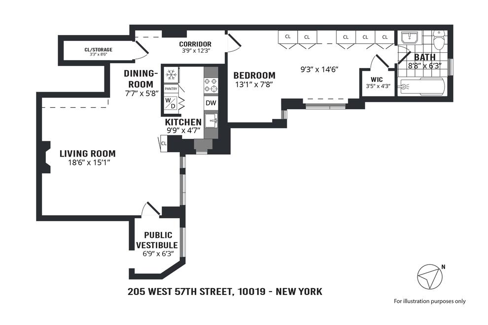 Unit 3DC at 205 West 57th Street, New York, NY 10019
