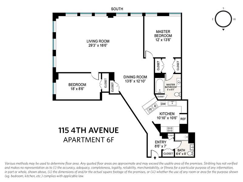 115 4th Avenue #6F, New York, NY 10003: Sales, Floorplans, Property