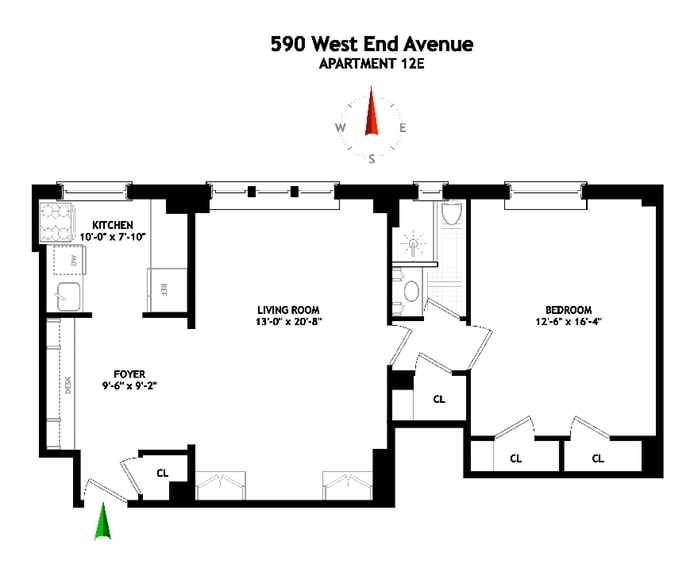 Unit 12E at 590 West End Avenue, New York, NY 10024