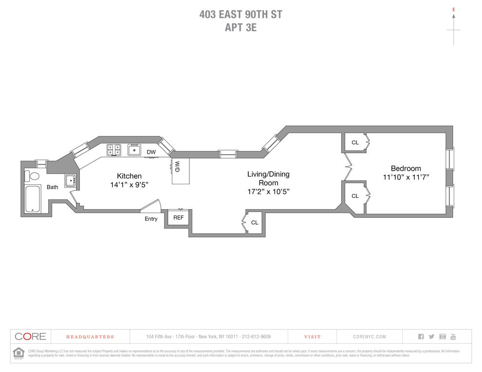 Unit 3E at 403 East 90th Street, New York, NY 10128