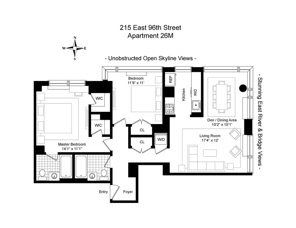 Unit 26M at 215 East 96th Street, New York, NY 10029