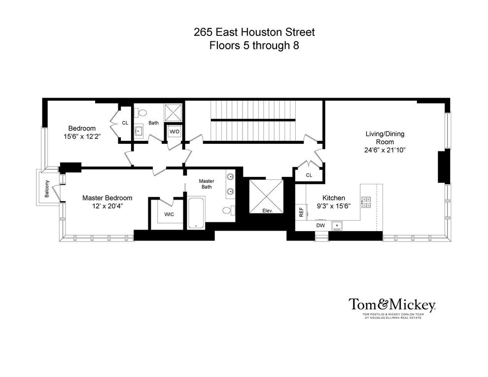 Unit 7FL at 265 East Houston Street, New York, NY 10002