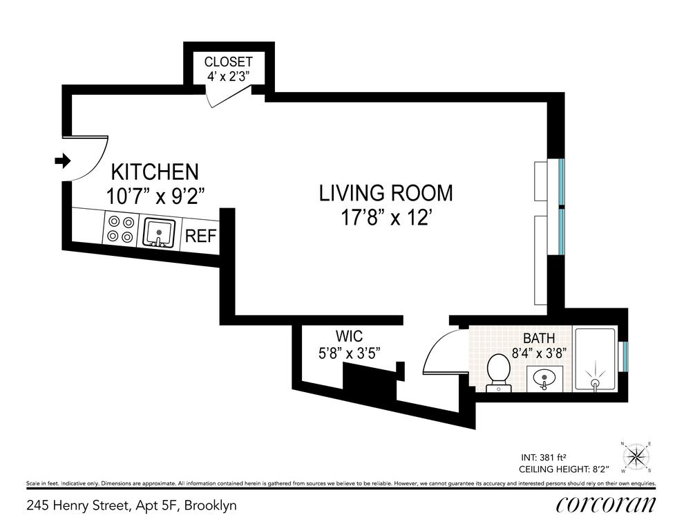 Unit 5F at 245 Henry Street, Brooklyn, NY 11201