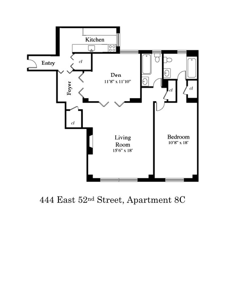 Unit 8C at 444 East 52nd Street, New York, NY 10022