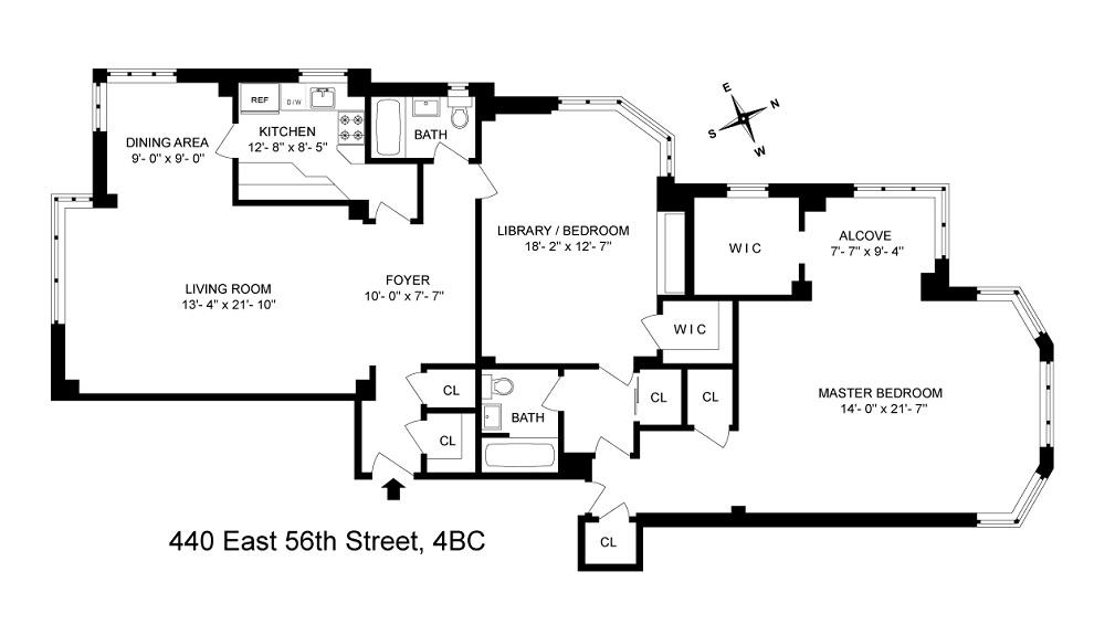 Unit 4BC at 440 East 56th Street, New York, NY 10022
