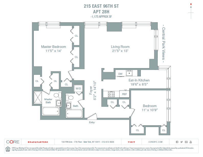 Unit 28H at 215 East 96th Street, New York, NY 10029