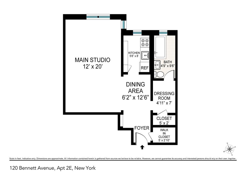 Unit 2E at 120 Bennett Avenue, New York, NY 10033