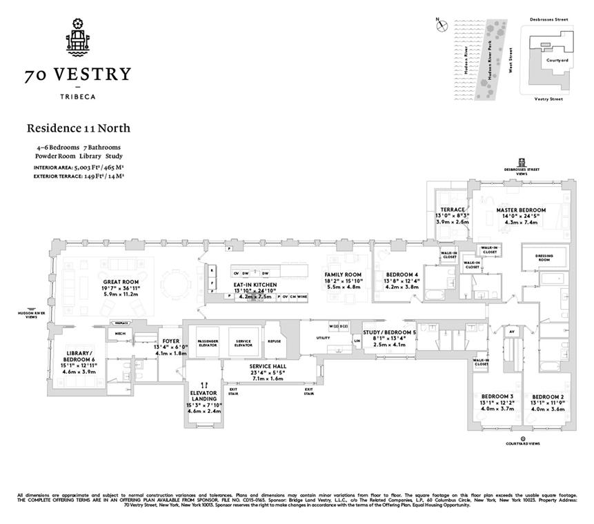 Unit 11N at 70 Vestry Street, New York, NY 10013