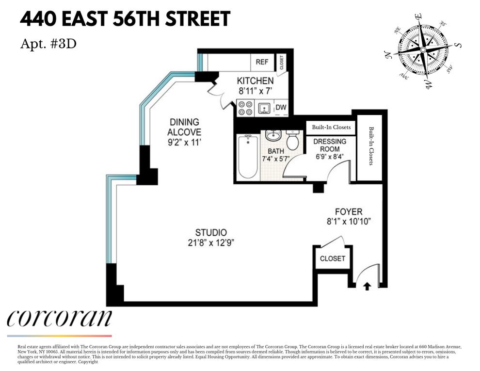 Unit 3D at 440 East 56th Street, New York, NY 10022