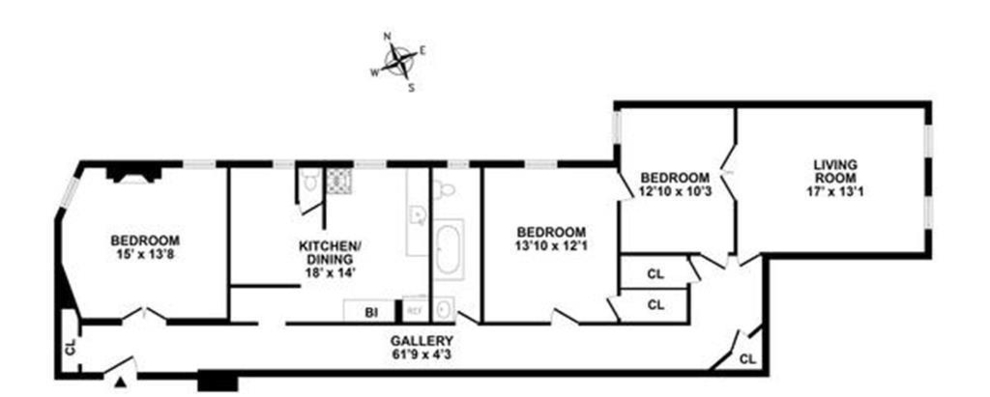 Unit 7A at 243 West 98th Street, New York, NY 10025