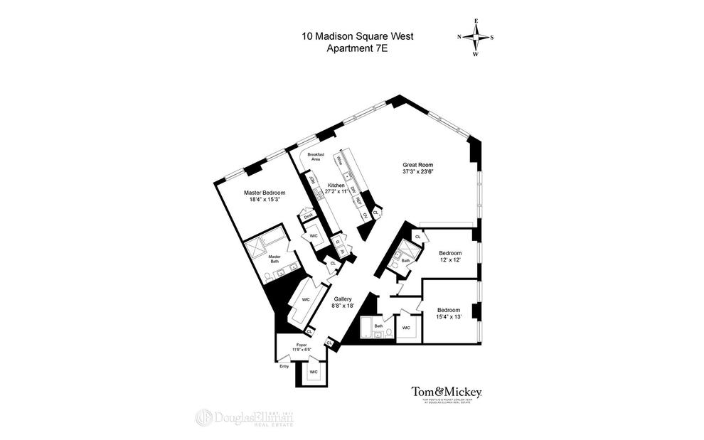 Unit 7E at 10 Madison Square West, New York, NY 10010