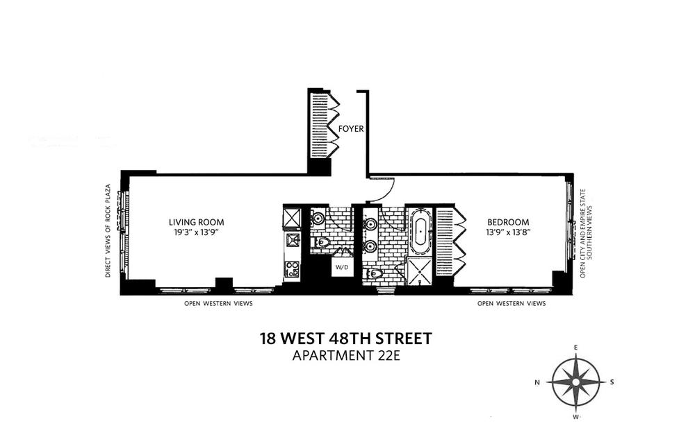 Unit 22E at 18 West 48th Street, New York, NY 10036