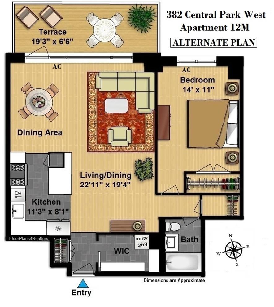 382 Central Park West, New York, NY 10025: Sales, Floorplans