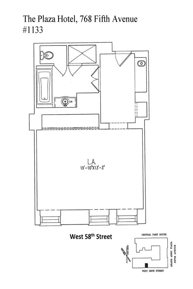 Unit 1133 at 768 5th Avenue, New York, NY 10019