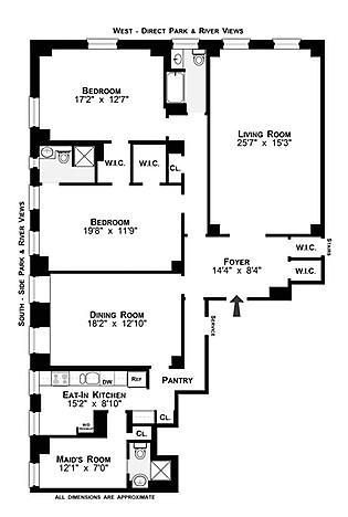Unit 14A at 340 Riverside Drive, New York, NY 10025