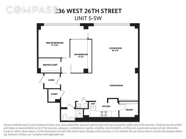 Unit 5SW at 236 West 26th Street, New York, NY 10001