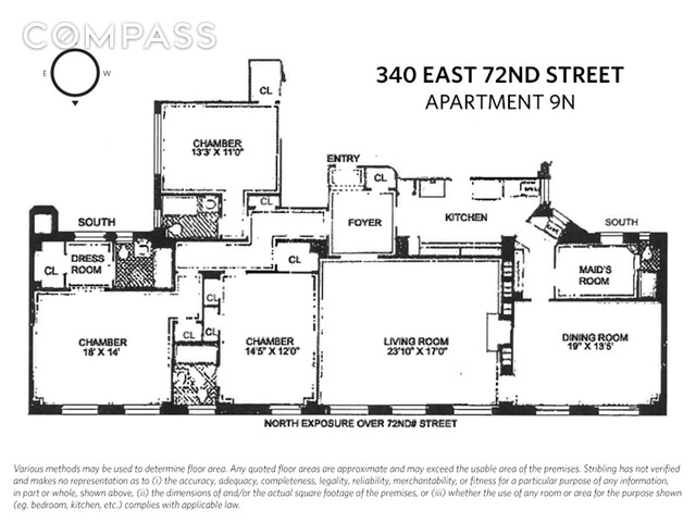 Unit 9N at 340 East 72nd Street, New York, NY 10021
