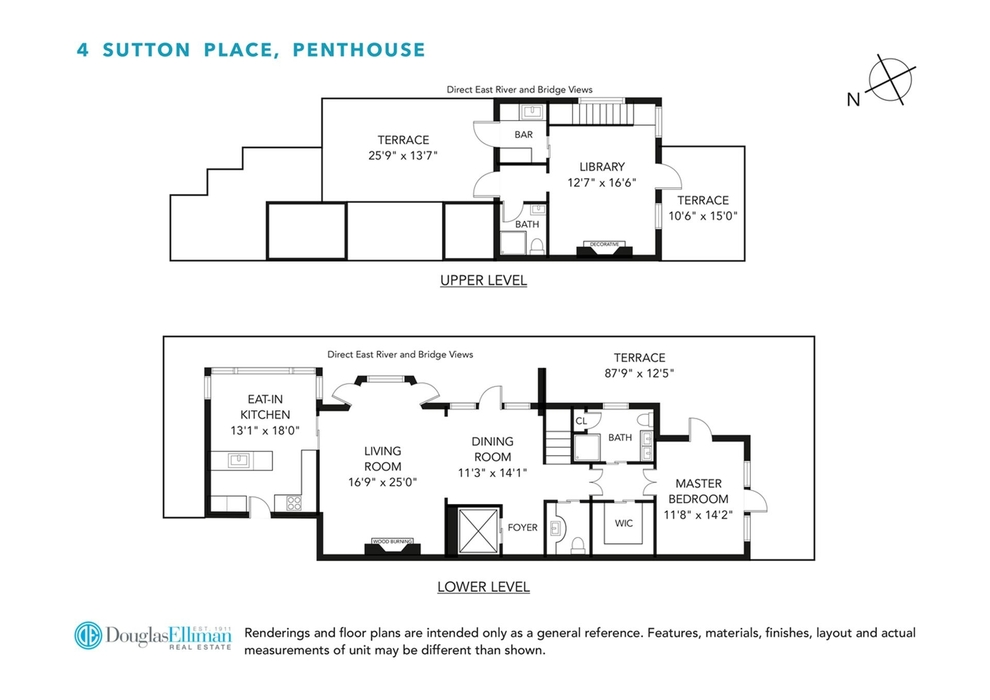 Unit PH at 4 Sutton Place, New York, NY 10022