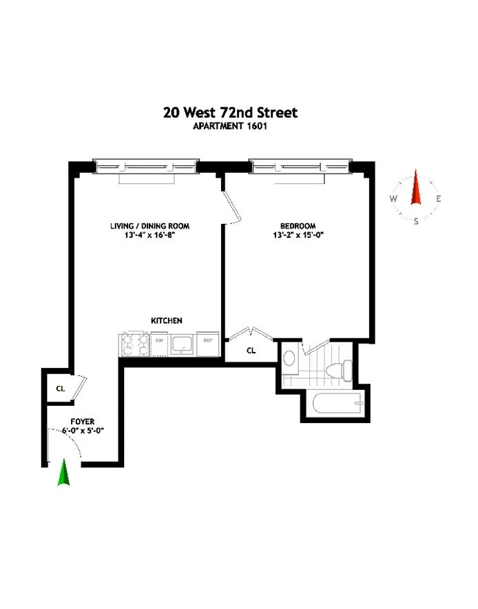 Unit 1601 at 20 West 72nd Street, New York, NY 10023