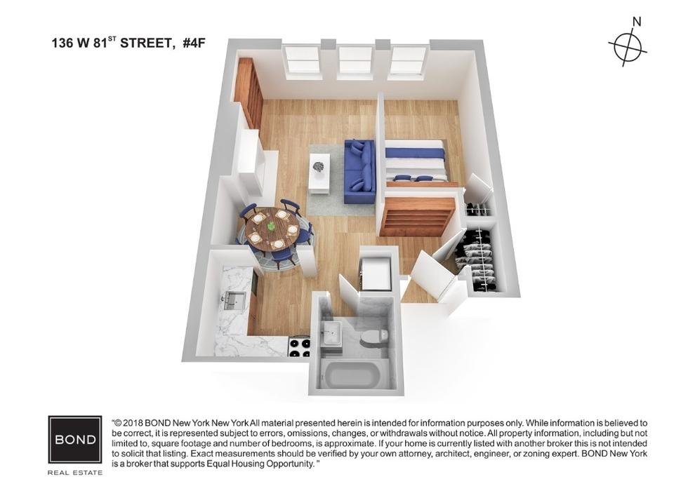 Unit 4F at 136 West 81st Street, New York, NY 10024