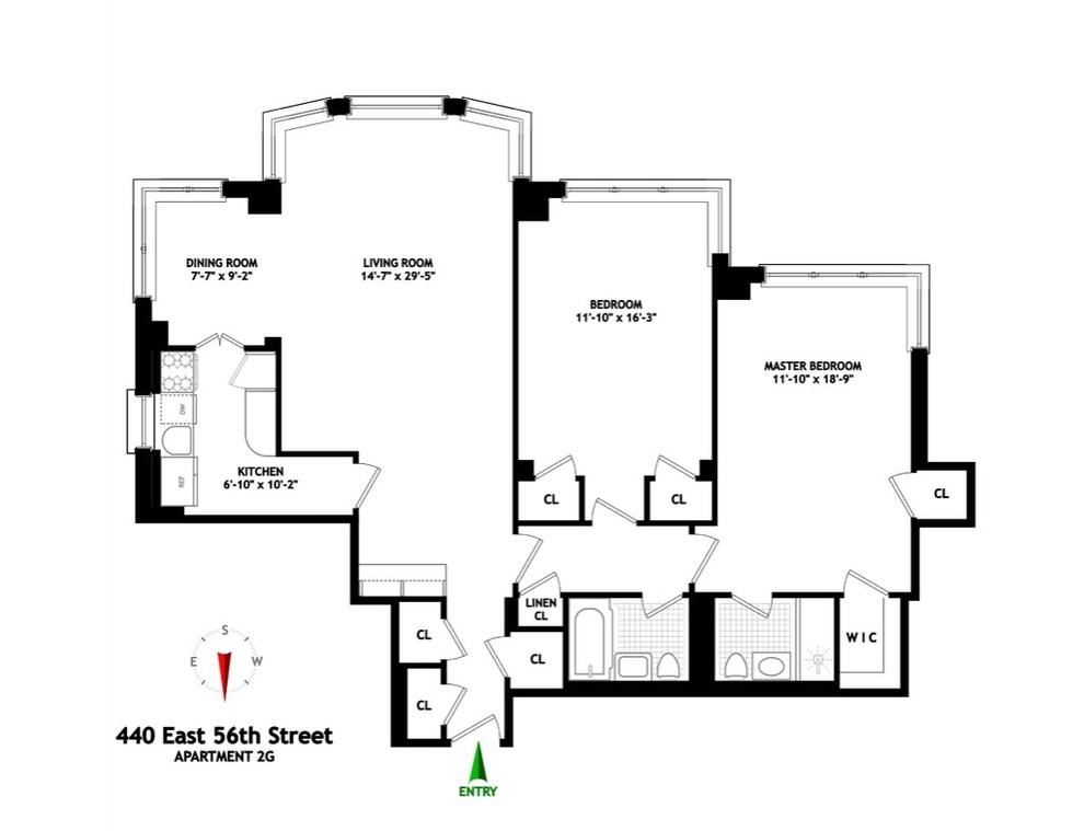 Unit 2G at 440 East 56th Street, New York, NY 10022