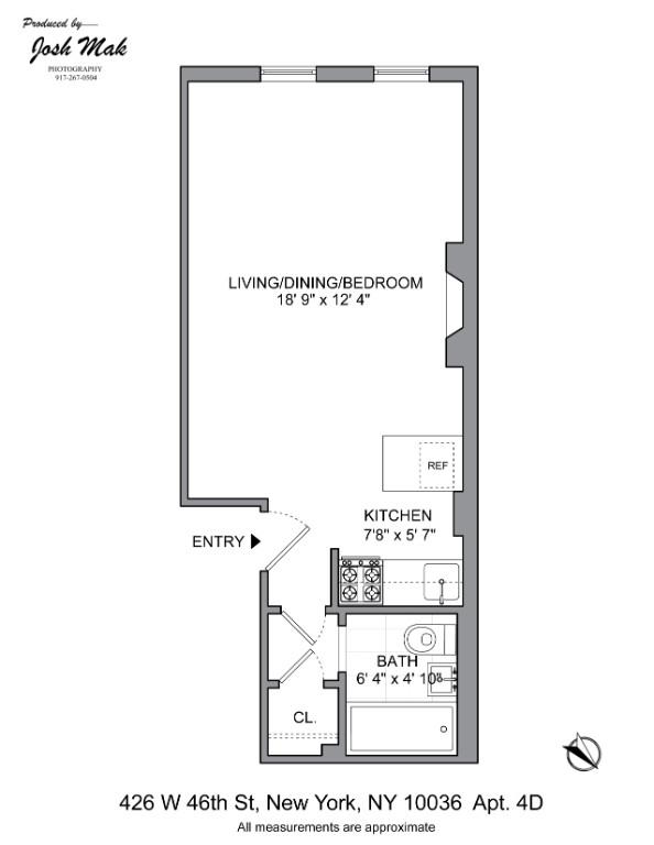 Unit 4D at 426 West 46th Street, New York, NY 10036