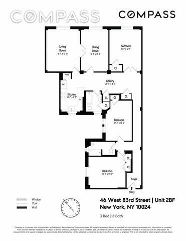 Unit 2B at 46 West 83rd Street, New York, NY 10024