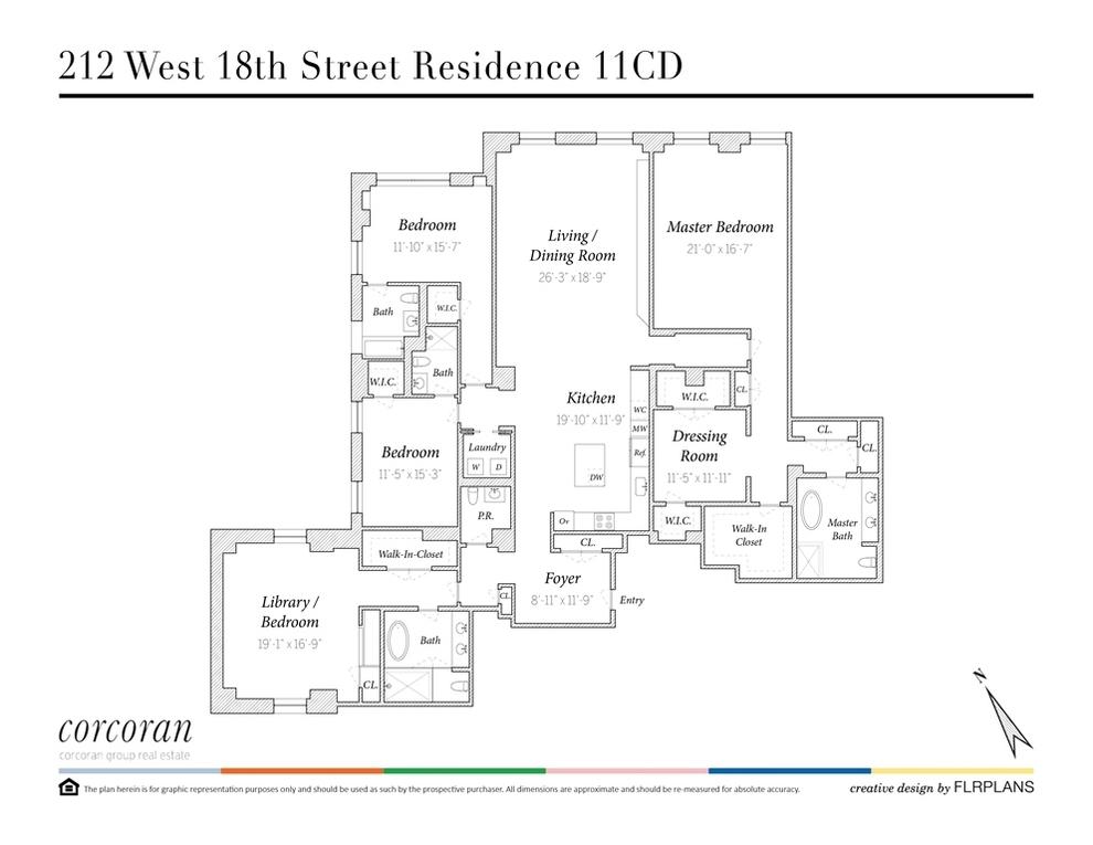 Unit 11CD at 212 West 18th Street, New York, NY 10011