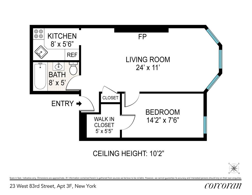 Unit 3F at 23 West 83rd Street, New York, NY 10024