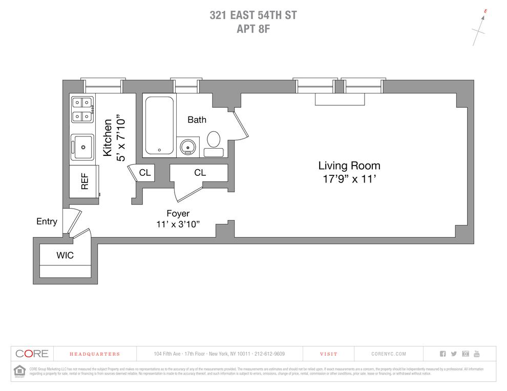 Unit 8F at 321 East 54th Street, New York, NY 10022