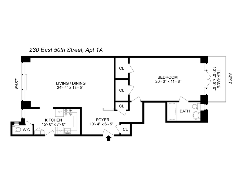 Unit 1A at 230 East 50th Street, New York, NY 10022