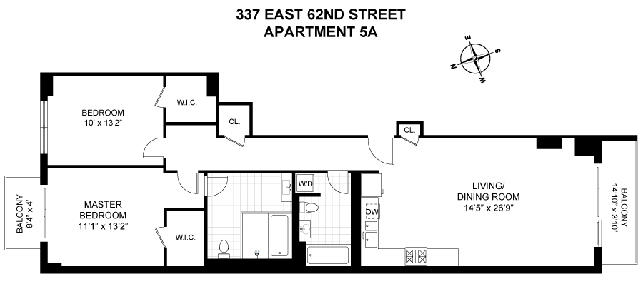 Unit 5A at 337 East 62nd Street, New York, NY 10065