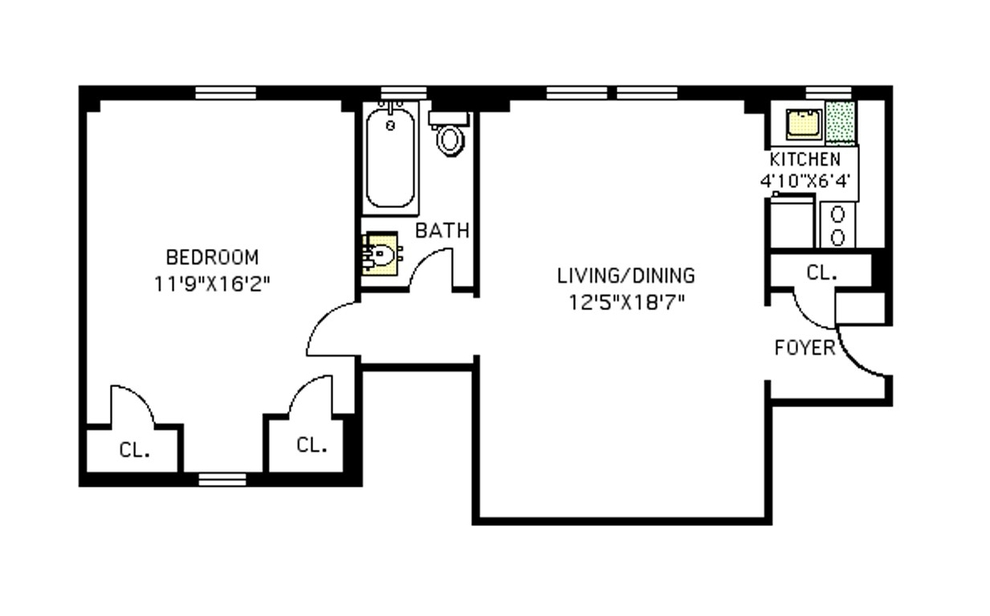 Unit 7B at 24 Monroe Place, Brooklyn, NY 11201