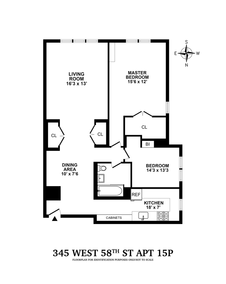 Unit 15P at 345 West 58th Street, New York, NY 10019