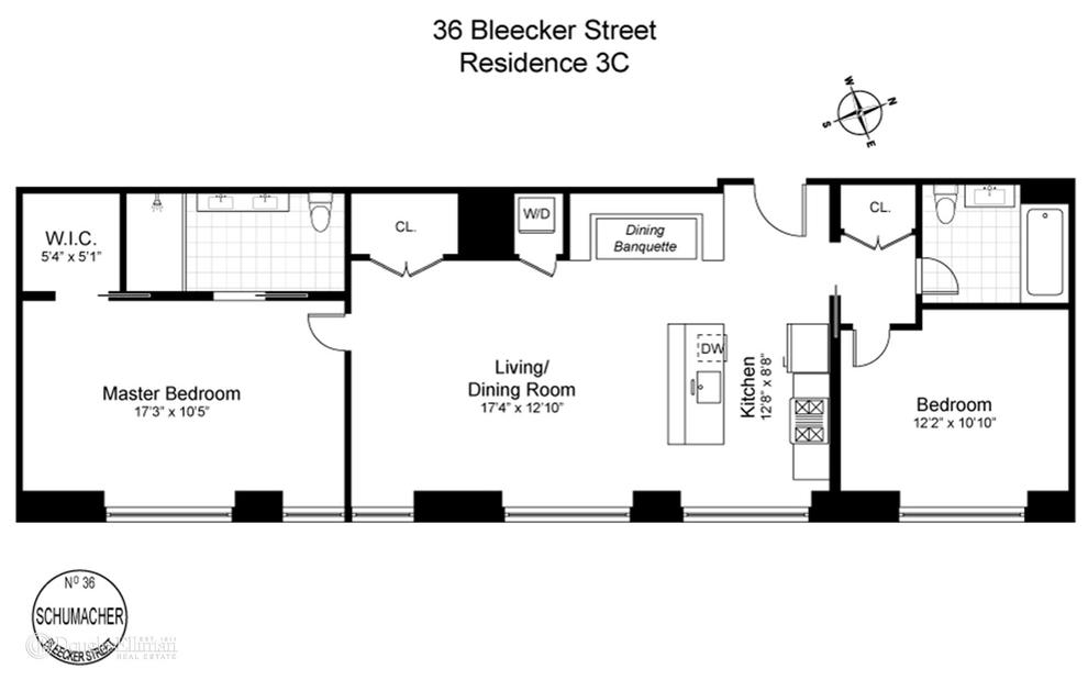 Unit 3C at 36 Bleecker Street, New York, NY 10012