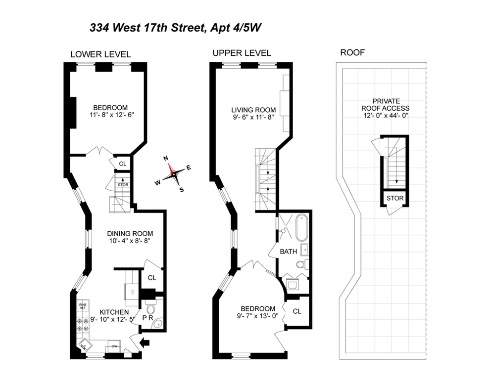 Unit PH45W at 334 West 17th Street, New York, NY 10011
