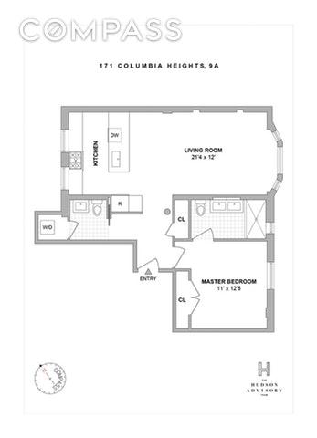 Unit 2A at 171 Columbia Heights, Brooklyn, NY 11201